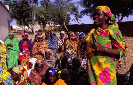 Belonging to a cooperative group gives these women in Cameroon the chance to communicate their views more widely. Sustainable development demands that people participate in the debates and decisions that affect their lives / Giacomo Pirozzi - Panos Pictures