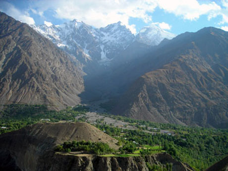 The Sonoghure village in the Chitral district of Pakistan where a burst glacier lake caused half the village to be destroyed / Rina Saeed Khan - Panos London