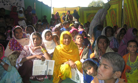 Photo of the Manchar Lake People's Assembly, which Panos London helped to organise as part of the Living with Poverty project