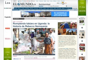 Machrine Birungi's article about a Ugandan fisherwoman appears online in Spanish newspaper El Mundo