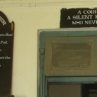 "A sign inside a morgue in Imphal, Manipur, reads ""A corpse is a silent witness that never lies"""