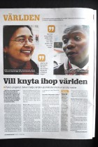 Aunohita Mojumdar and Wambi Michael feature in an article about Panos in Sweden's Journalisten magazine