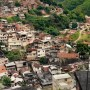 A view of a hillside favela in Brazil
