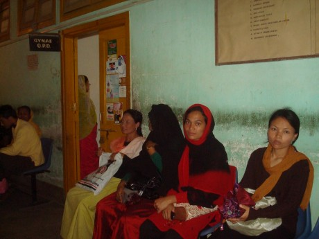 Pregnant women in Manipur visit the doctor for check-ups