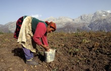 Mountainous territory and poor infrastructure means electricity supply in Kyrgyzstan is erratic / Chris Sattlberger - Panos London