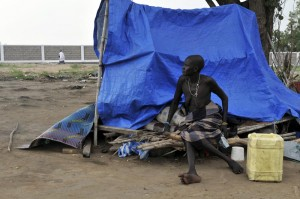 Hundreds of families were made homeless after the government bulldozed shacks in informal areas of Juba