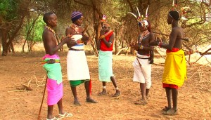 Turkana villagers