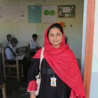 Maimoona outside her class in Taxila - Maimoona Shahzadi | Panos London