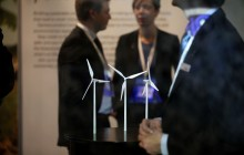 Exhibition promoting wind power in the Forum exhibition hall, the site of the Bright Green Conference, part of the UN summit on climate change (COP15), held at the Bella Centre in Copenhagen - Fredrik Naumann | Panos Pictures