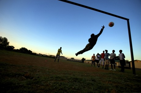 An educational programme in Soshanguve township in Pretoria, South Africa which teaches vulnerable young people about HIV while improving their footballing skills. Panos London's HIV interventions are based on understanding who is vulnerable to HIV and why. Robin Hammond | Panos Pictures