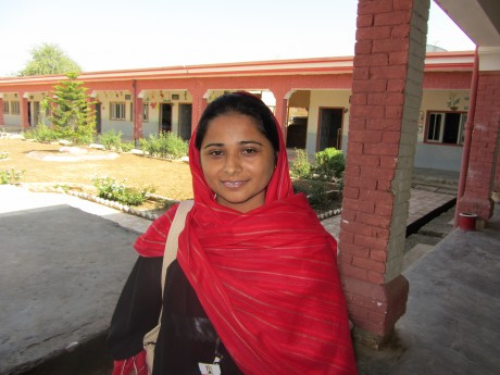 Maimoon at her school in rural Pakistan | Panos London