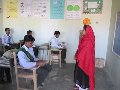 Maimoona teaching Class X - Rina Saeed Khan | Panos London