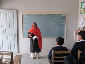 Maimoona teaching her class - Rina Saeed Khan | Panos London
