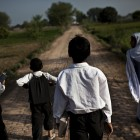 Students in the village of Panchkasi walk about 5km every day to get to the nearest government primary school - Zackary Canepari   Panos Pictures