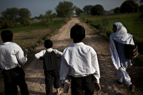 Students in the village of Panchkasi walk about 5km every day to get to the nearest government primary school - Zackary Canepari | Panos Pictures