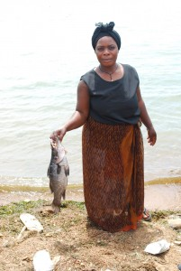 Rebecca Namayanja with a recent catch - Kabangala Mohammed | Panos London