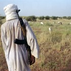 Armed Tuareg man herding sheep in this remote and insecure area north of Gao - Crispin Hughes | Panos Pictures