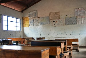A classroom in a public school in Nairobi. An average classroom holds up to 70 children - Adrian Gathu | Panos London