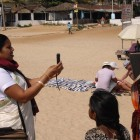 Bhan Sahu interviewing people in rural India - Stella Paul | Panos London