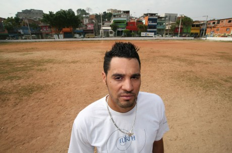 Marcos at the soccer field of the São Paulo neighborhood - Lilo Clareto | Panos London