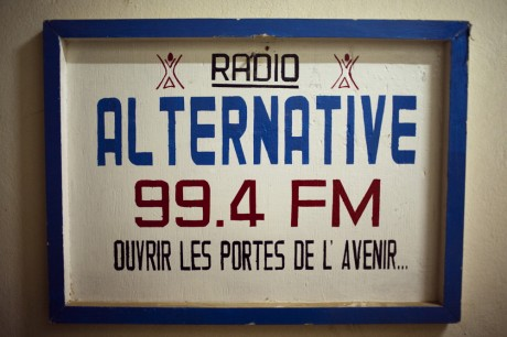 A sign outside a radio station in Niger. The African Diaspora media wants to show an alternative to the story of Africa a place of poverty, hunger and conflict - Jacob Silberberg | Panos Pictures