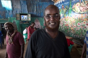 Addullahi Ahmed Mohamed arrived in Dadaab in 1991 with nothing. He is now the owner of a restaurant which employs 11 people - Piers Benatar | Panos Pictures