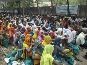 Villagers meet at an event organised by Ekta Parishad, a people's movement which campaigns for equal access to livelihood resources - Ekta Parishad