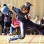 A Croatian team member throws a ball during an international goalball tournament in Zagreb - Bjoern Steinz | Panos Pictures