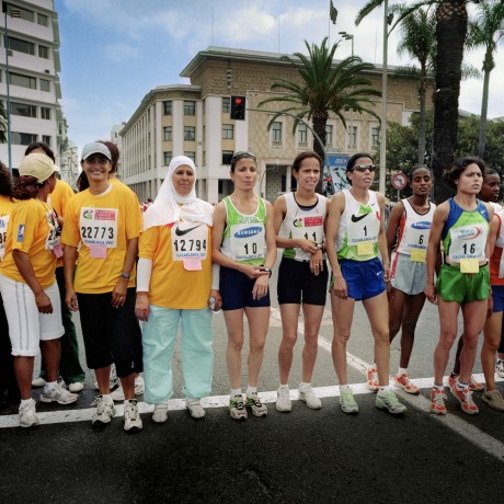 Runners prepare to set off on an annual 10k race for women founded by Moroccan gold medal winner Nawal El Moutawakel - Alfredo Caliz | Panos Pictures