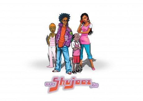 Boyie - aka DJ B - Malika, Maria Kim and Charlie Pele are the characters behind the fictional world of Shujaaz, bringing advice and information to young Kenyans