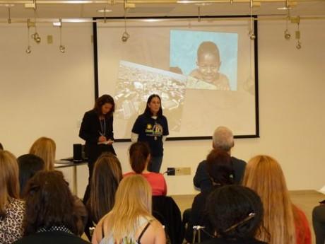 Tia Dag addresses students at the University of San Francisco