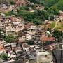 A view of a hillside favela in Brazil