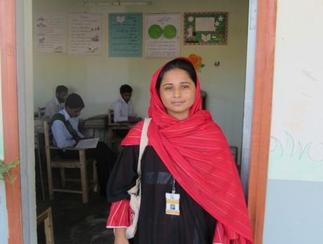 Maimoona outside her class in Taxila - Maimoona Shahzadi | Panos London