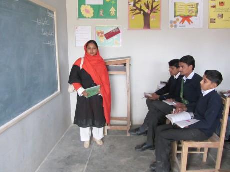 Maimoona teaching her class - Rina Saeed Khan | Panos London