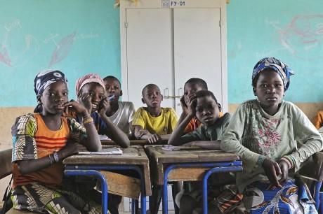 Children in the village school in Gwelekoro, Mali