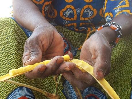 Kaidia holds some néré pods - Soumaila T Diarra | Panos London