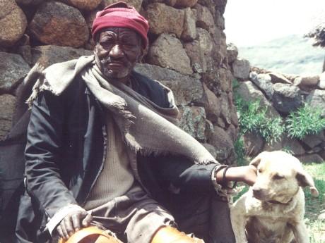 Lipholo Bosielo, one of the narrators in the Molika-liko valley - Kitty Warnock | Panos London